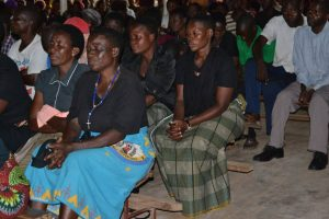 Picture of Mourners during the requiem mass at St Mar's Church
