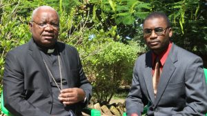 Picture of Ephraim Nyirenda interviewing Bishop Mtumbuka on the status of Karonga Diocese recently