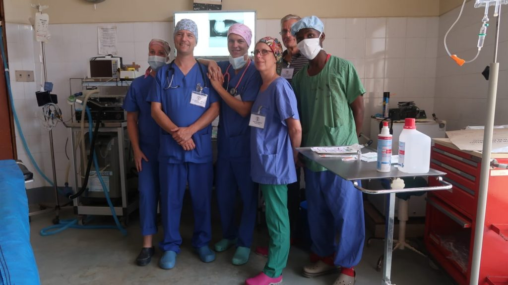 In the line of duty: Interplast Team in the operating theatre at Chitipa District Hospital