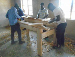Vocational skills training in progress