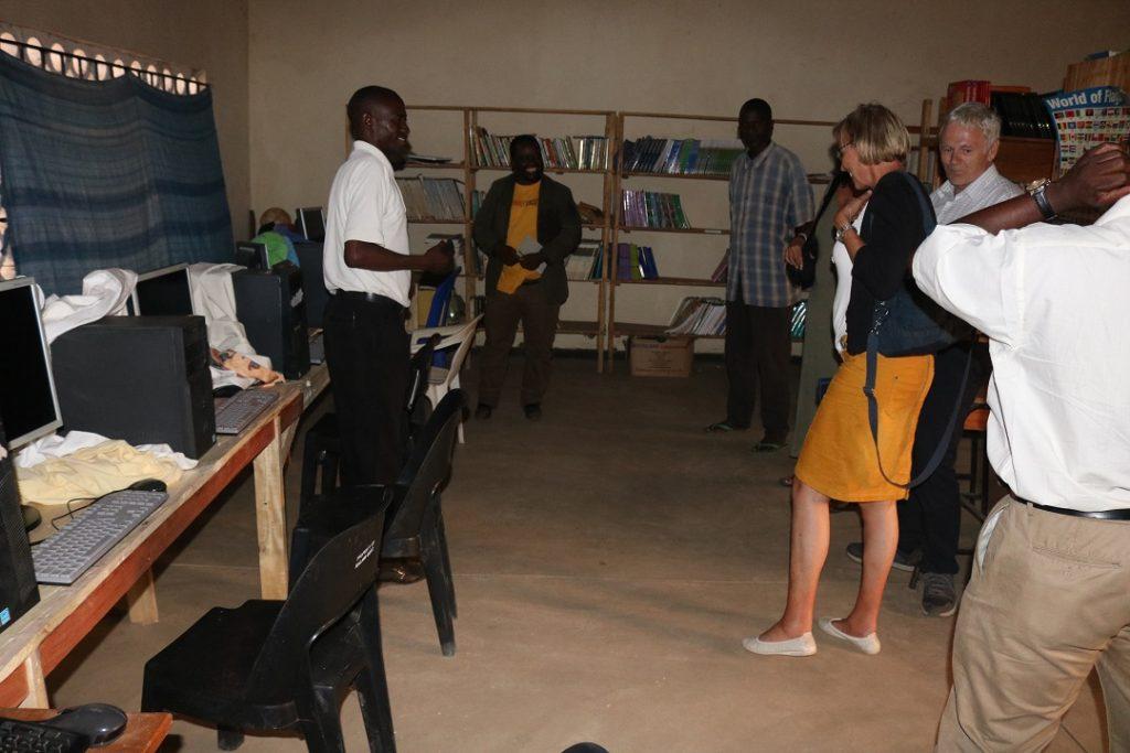Handover of computers at Ngala CDSS