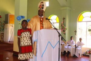 Bishop Mtumbuka Grants Caroline Banda a Place At St Mary's Karonga GSS