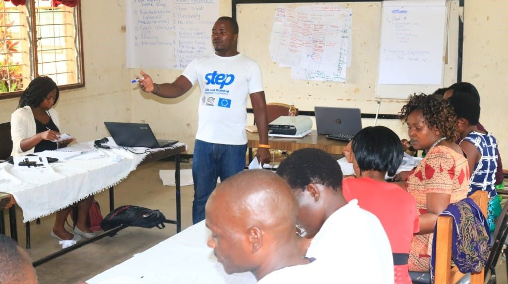 One of the facilitators during the training session