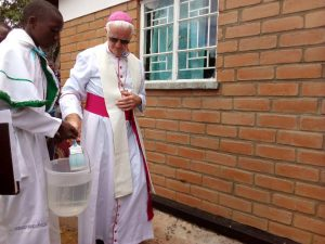 Bishop Ryan Blessing the Health Centre