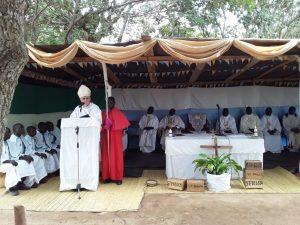 Bishop Ryan Speaking at the Function ration