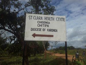 Signpost of St Clara Health Centre
